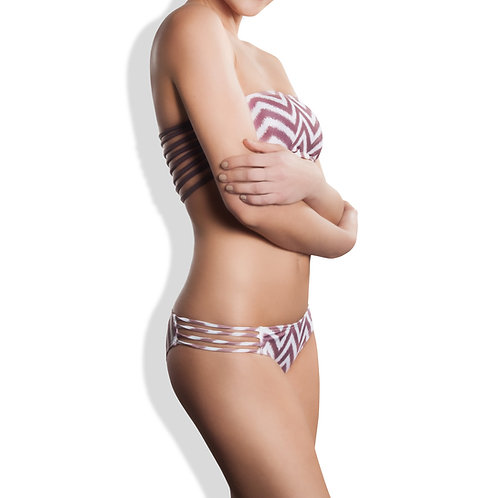 OIA STRAPPY BIKINI BOTTOM SPECKLED CHEVRON MATCHING STRAPS