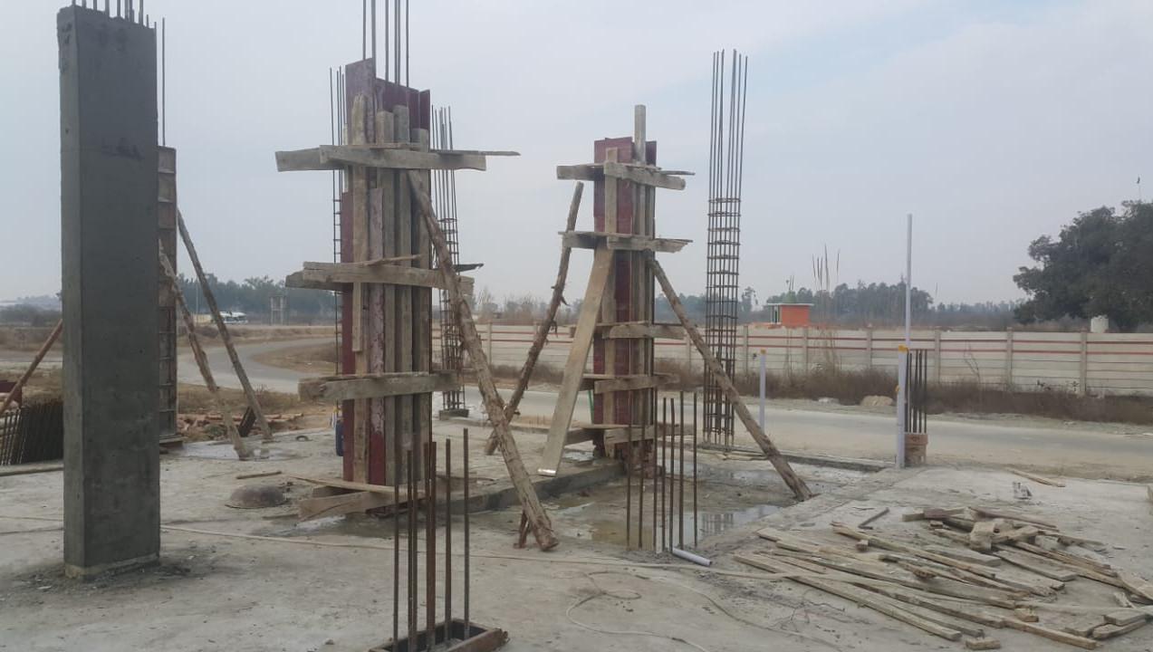 Ground floor columns shuttering