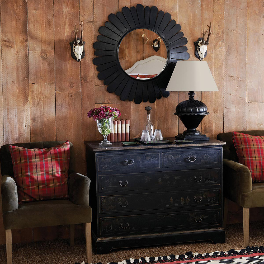 Statement Mirror above the console