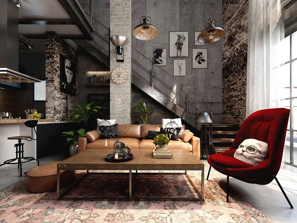 Industrial Style House Interior