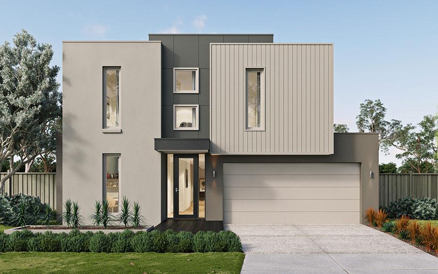 Tiled house facade
