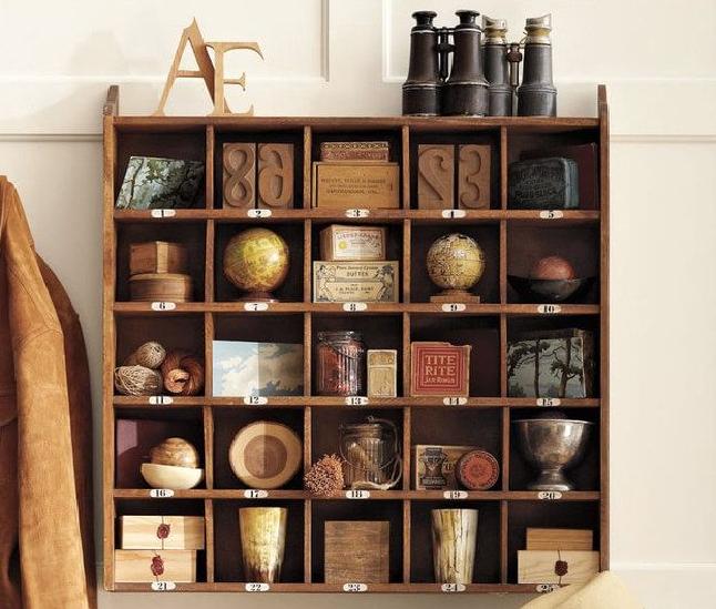 Travel Treasures arranged in a shelf