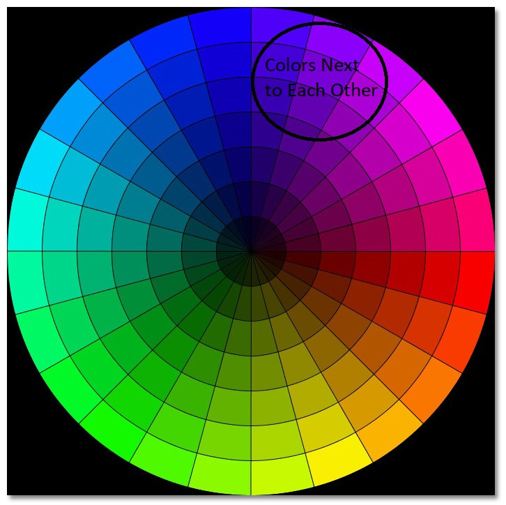 Classy Look-Colors next to each other on Color Wheel