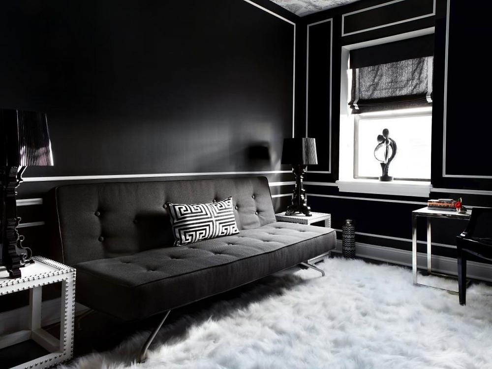 Black Paint-Interior Paint Ideas