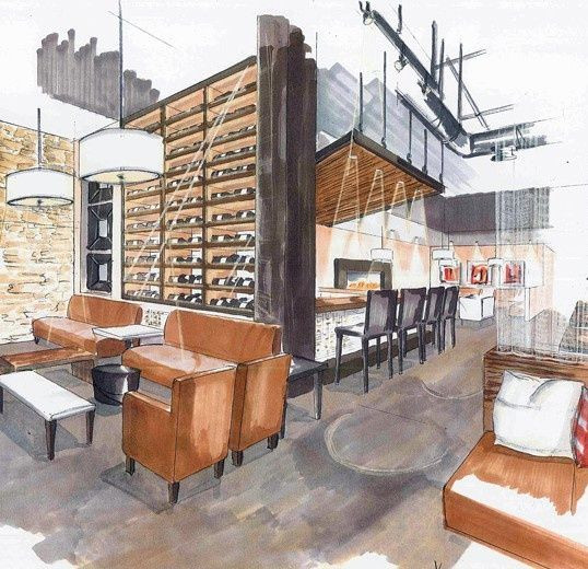 Commercial Interior Design-Interior Design of Cafe'