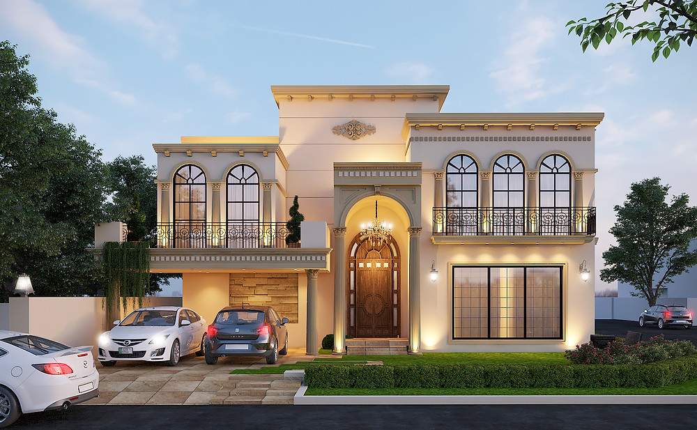 More Detailing in Classical Style House-More Construction Cost