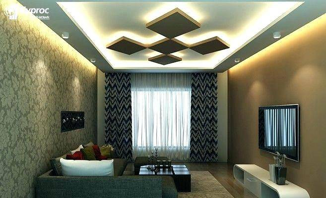 Simple False Ceiling enhanced with lighting effect