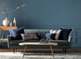 Fresh blue tone in interior