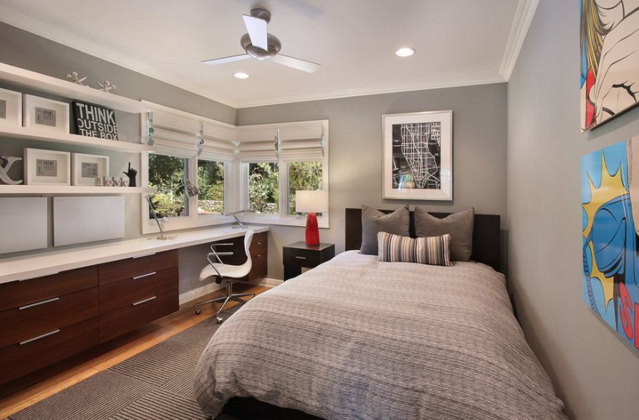 A Bedroom that is also a Study Room