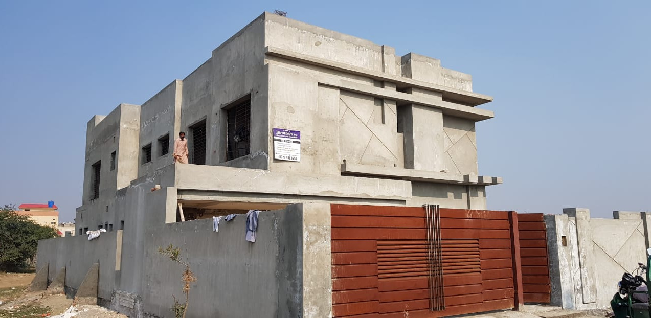 Grey structure complete on-site