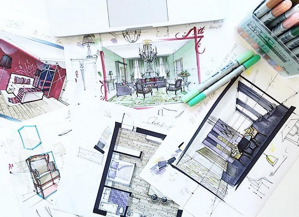 Interior Designer Designs the Practical & Creative Aspects