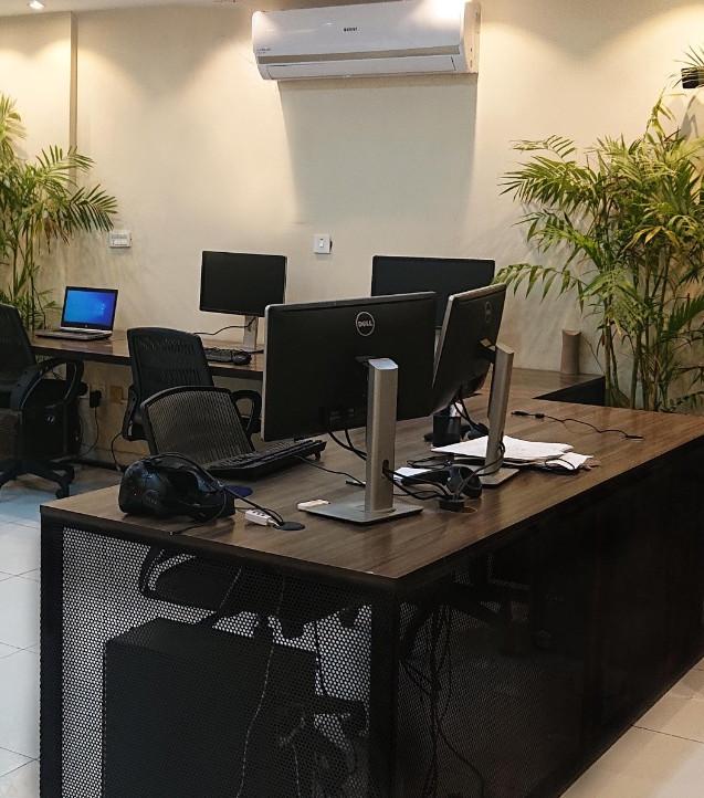 Work station area