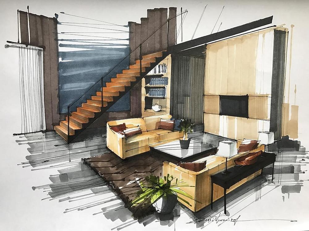 Residential Interior Design-Designed Living Area