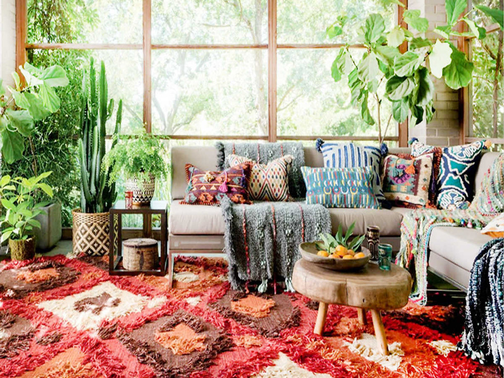 Rich colors & patterns in Bohemian Style