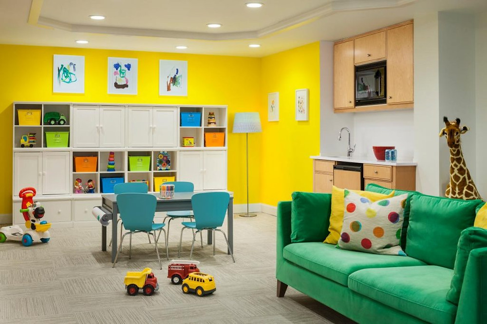 Paint theme for kids playroom