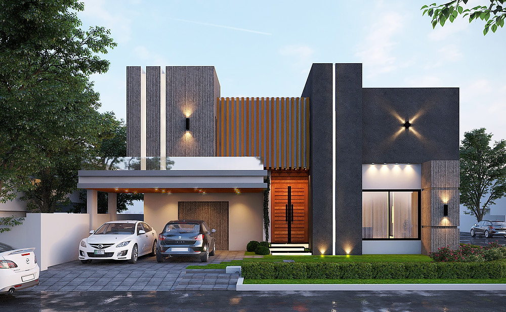 Contemporary Style House With Less Flase Eleements