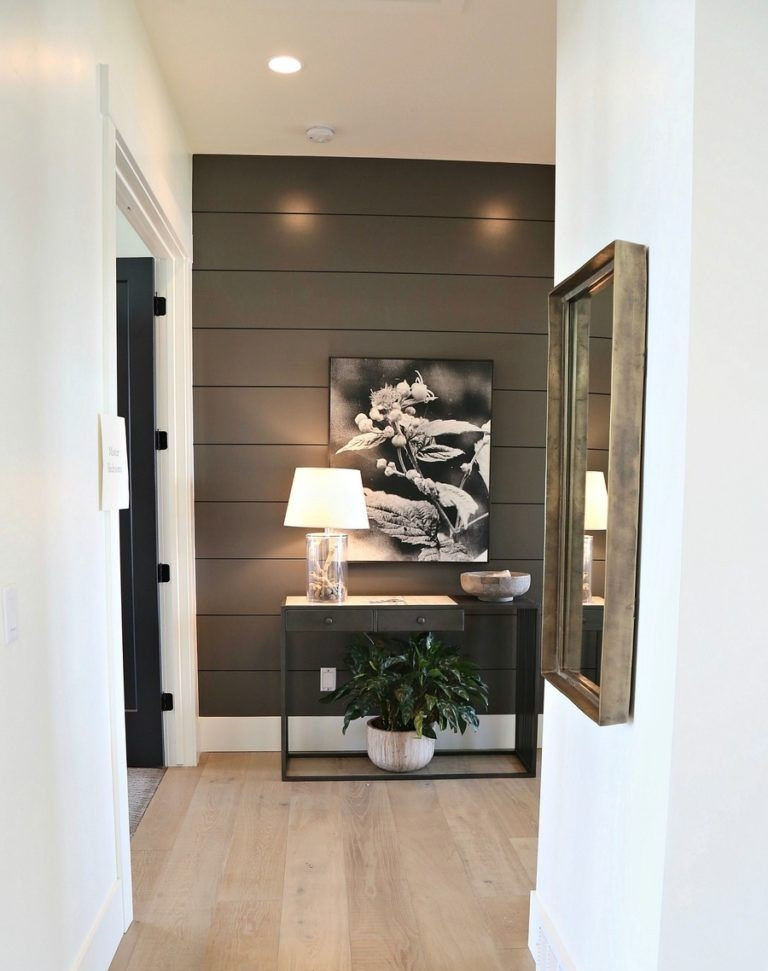 Interior Paint Ideas-Chocolate brown color on the front wall making the wall a focal point