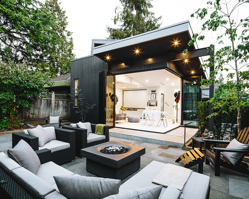 Multi-purpose outdoor space blended well with the house interior