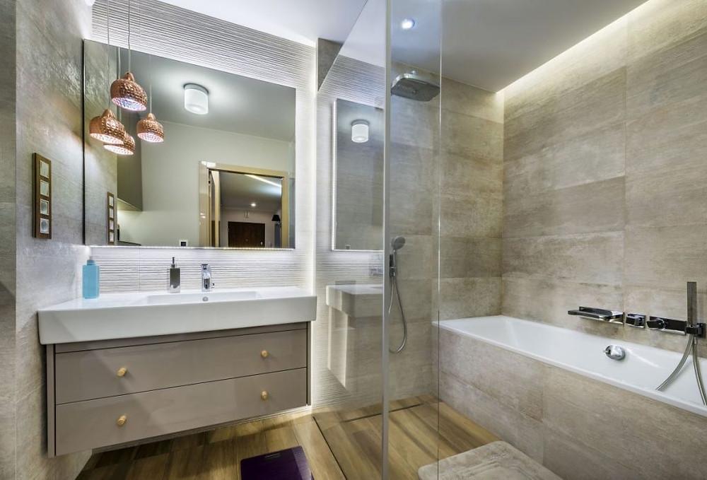Lighting in Bathroom-Social Distancing Ideas