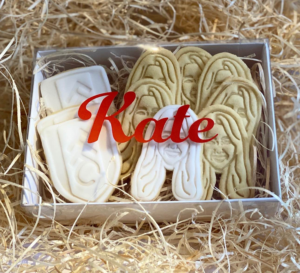 Kate's surprise gift - courtesy of The Biscuit Bakery