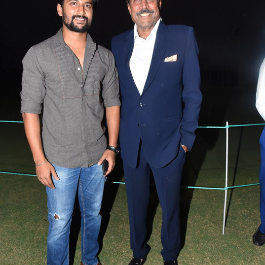 Nani and Kapil Dev