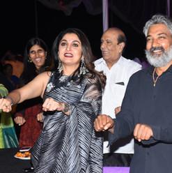 Rajamouli and Ramya Krishnan participate in the mentalist's show.