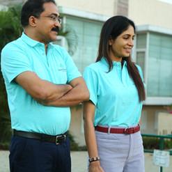 CEO, Dr. Satish Ghanta and Ms. Madhavi
