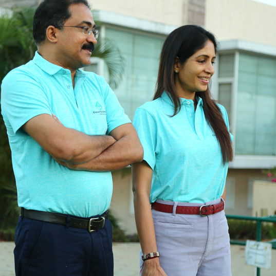 CEO, Dr. Satish Ghanta and Ms. Madhavi