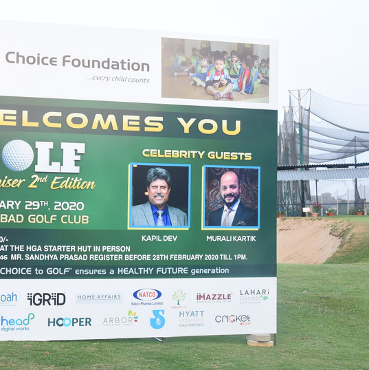 Welcome to the 2nd edition Annual Golf Fundraiser by Choice Foundation
