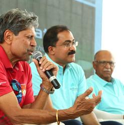 Kapil Ji adressing the press