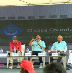 Dr. Satish addressing the press