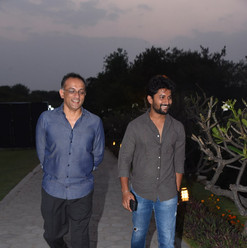Mr. Shobu accompanying Guest of Honor: Nani, Indian actor