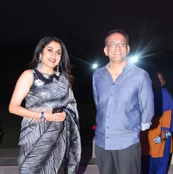 Ramya Krishnan and Mr. Shobu