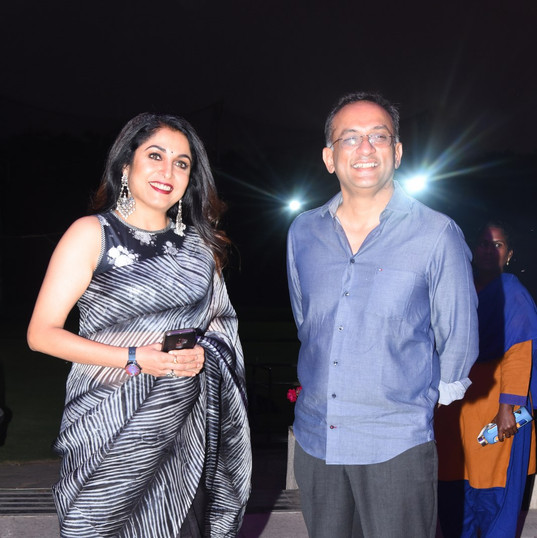 Ramya Krishnan and Mr. Shobu