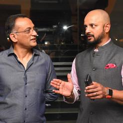 Mr. Shobu interacting with Murali Karthik