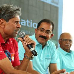 Kapil Ji addressing the press