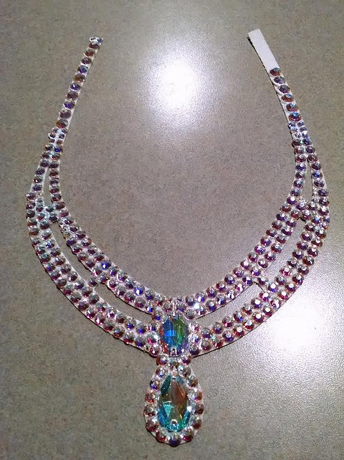 Custom circular necklace in Swarovski crystals