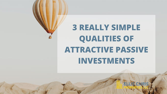 3 Really Simple Qualities of Attractive Passive Investments