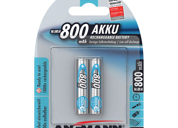 Piles AAA 800 mAh rechargeables x2