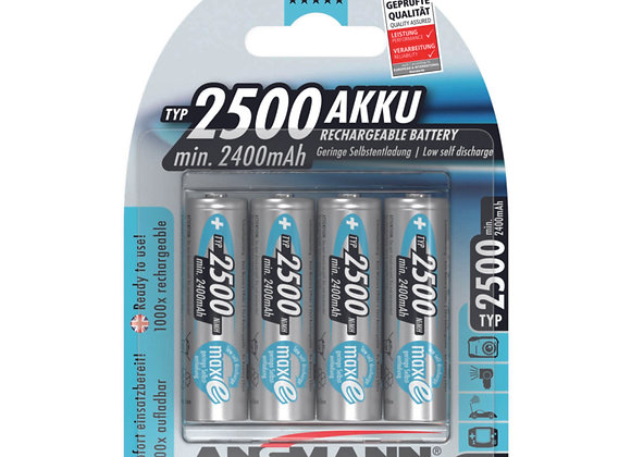 Piles AA 2500mAh rechargeables x4