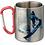 Thumbnail: Mug inox 300ml avec hanse mousqueton rouge