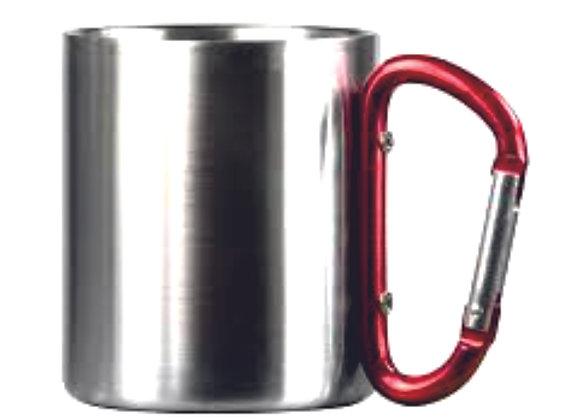 Mug inox 300ml avec hanse mousqueton rouge
