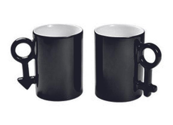 Mugs couple magique noir