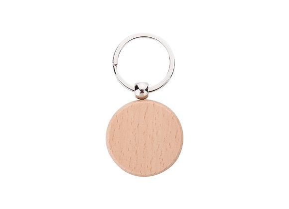Porte-clés en bois rond à graver