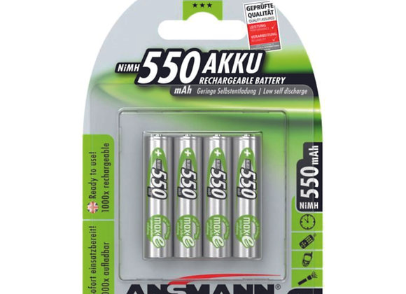Piles  AAA 550 mAh rechargeables x4