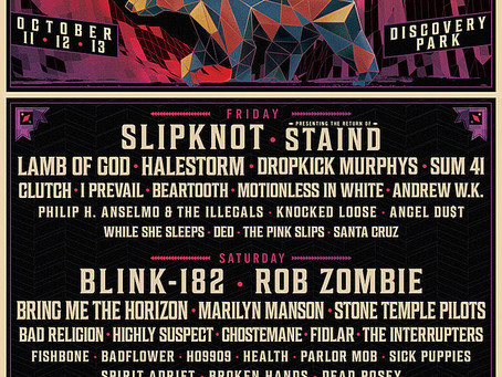 Slipknot,Blink 182andToolhave been announced as the headliners for the 2019Aftershock Festival