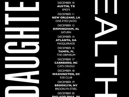 DAUGHTERS ANNOUNCE NORTH AMERICAN FALL TOUR