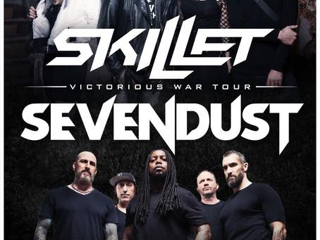 SKILLET + SEVENDUST ANNOUNCE CO-HEADLINE VICTORIOUS WAR SUMMER 2019 TOUR