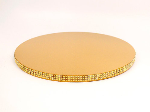 Gold Jeweled Cake Stand Plate