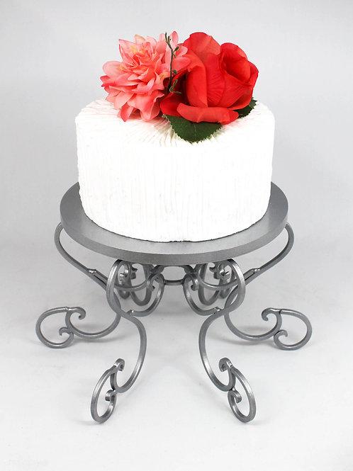 Silver Swirl Cake Stand